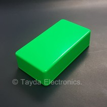 1590B Style Aluminum Diecast Enclosure Glowing Green