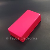 1590B Style Aluminum Diecast Enclosure Glowing Pink