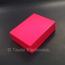 1590BB Style Aluminum Diecast Enclosure Glowing Pink