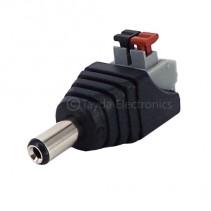 DC Power male Jack Push Button 2 Pin Terminal