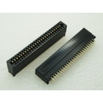 Edge Card Connector 50 Pins 2.54mm Dip Solder Type Without Ears