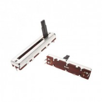 20K OHM Linear Taper Slide Potentiometer PCB Mount Plastic Shaft Lever Height: 15mm Center Click