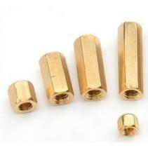 Brass Standoff Spacer Golden Screw Hex Female M3x12.5mm