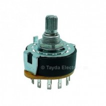 Rotary Switch 1 Pole 7 Position ALPHA SR2511 15mm