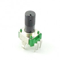 B5K OHM Linear Taper Potentiometer Round Knurled Plastic Shaft PCB 9mm