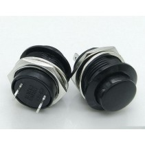 PUSH BUTTON SWITCH MOMENTARY Black Color SPST 3A 250VAC