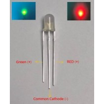 Bi-color LED Red/Green 5mm Common Cathode