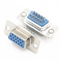D-SUB CONNECTOR HD15 15 PINS FEMALE 3 ROWS SOLDER TYPE