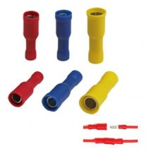 Female Bullet Insulated Crimp Terminal Red Size 0.5mm² to 1.5mm²