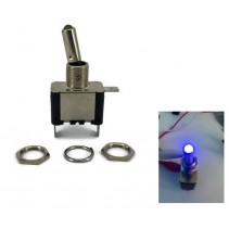 Toggle Switch Aircraft SPST On-Off 12V 20A Blue LED