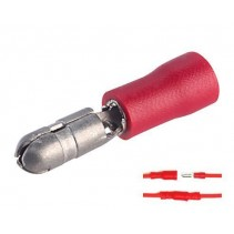 Male Bullet Insulated Crimp Terminal Red Size 0.5mm² to 1.5mm²