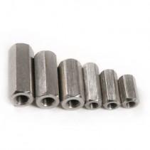 Brass Standoff Spacer Silver Screw Hex Female M3x6mm