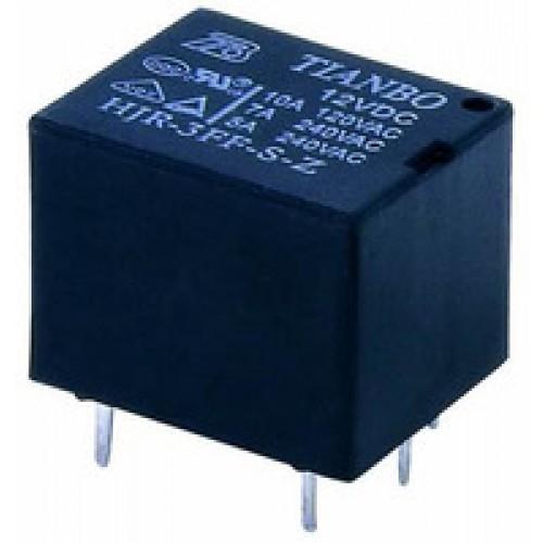Mini Relay SPDT 5 Pins 12VDC 10A 120V Contact
