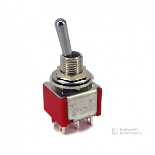 Mini Toggle Switch 1M Series DPDT On-On
