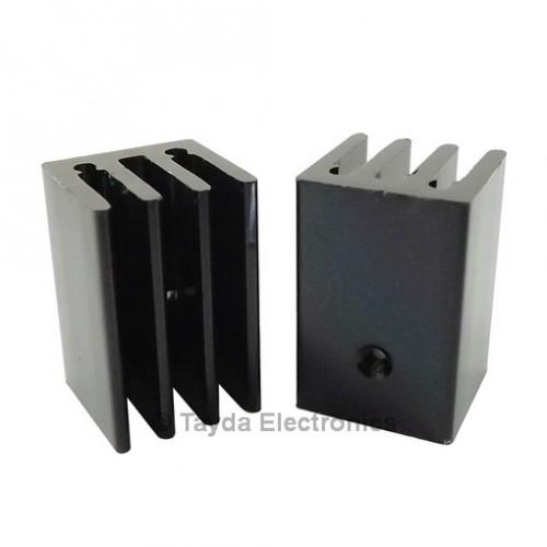 Heat Sink To 220 4 Fins 25mm Aluminium Black