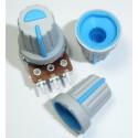 Blue Plastic Knob with Pointer